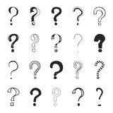 Pontos de interrogação - mão tirada fotos de stock