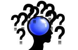 Pontos de interrogação na cabeça ilustração royalty free