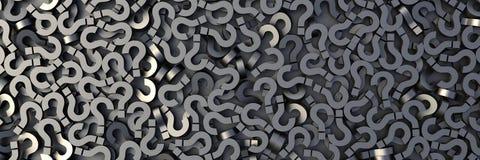Pontos de interrogação pretos Imagens de Stock
