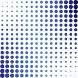 Pontos de intervalo mínimo azuis ilustração stock