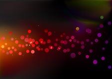 Pontos de luzes do disco ilustração royalty free