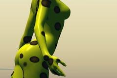 Pontos de polca amarelos Foto de Stock Royalty Free