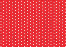 Pontos de polca brancos vermelhos Imagem de Stock Royalty Free