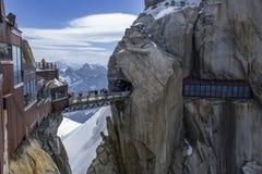 Pontos de vista em Aiguille du Midi Fotografia de Stock Royalty Free