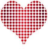 Pontos do coração ilustração stock