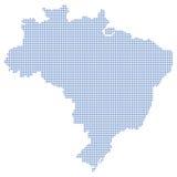 Pontos do mapa de Brasil Imagens de Stock Royalty Free