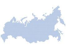 Pontos do mapa de Rússia Fotografia de Stock Royalty Free