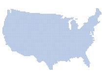 Pontos do mapa dos EUA Imagens de Stock