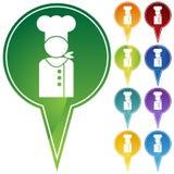 Pontos do marcador - cozinheiro chefe ilustração stock