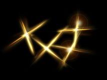 Pontos do ouro Fotografia de Stock Royalty Free
