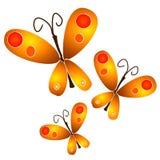 Pontos do ouro de Clipart da borboleta ilustração do vetor