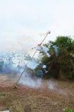 Pontos dos foguetes no festival de Qingming Fotografia de Stock Royalty Free