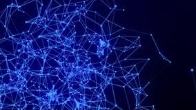Pontos e linhas de conexão abstratos Ciência da conexão e fundo da tecnologia filme