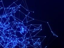 Pontos e linhas de conex?o abstratos Ci?ncia da conex?o e fundo da tecnologia imagem de stock