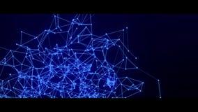 Pontos e linhas de conex?o abstratos Ci?ncia da conex?o e fundo da tecnologia filme