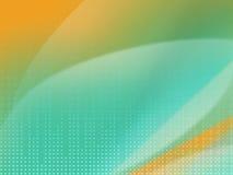 Pontos e luz de Digitas no fundo da laranja da cerceta Fotos de Stock Royalty Free