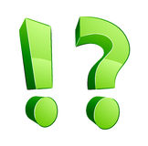 Pontos e pontos de interrogação de exclamação Fotografia de Stock Royalty Free