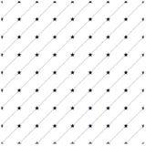 Pontos e teste padrão de estrelas Imagem de Stock Royalty Free
