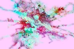 Pontos efervescentes coloridos macios cor-de-rosa, fundo abstrato e textura fotografia de stock