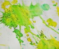 Pontos fosforescentes amarelos, fundo ceroso, projeto criativo Fotografia de Stock