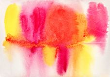 Pontos molhados pintados à mão da tinta da aquarela em papel textured imagens de stock royalty free