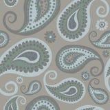 Pontos mortos frios sem emenda de Kalamkari Patternon do indiano de Pasley, Pasleys árabe que repete o teste padrão Backround ilustração royalty free