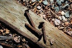 Pontos oxidados da estrada de ferro fotos de stock royalty free