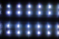Pontos retangulares da luz branca Luz horizontal e listras escuras foto de stock