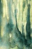 pontos verdes e pinceladas da aquarela Foto de Stock