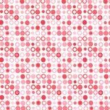 Pontos vermelhos cor-de-rosa Imagens de Stock Royalty Free