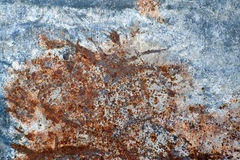 Pontos vermelhos da oxidação no metal unpainted Imagens de Stock Royalty Free