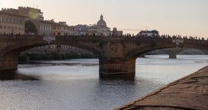 Ponts au-dessus d'Arno River à Florence photo libre de droits