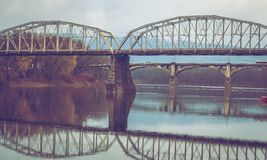 Ponts au-dessus de la rivière Susquehanna Photos libres de droits