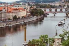 Ponts, automne à Prague, République Tchèque Images libres de droits