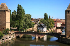 Ponts Couverts à Strasbourg Images stock