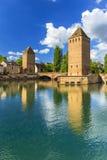 Ponts Couverts à Strasbourg Images libres de droits