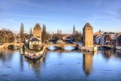 Ponts Couverts в страсбурге стоковые фотографии rf
