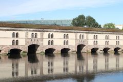 Ponts couverts, bridge in Strasbourg, Alsace, France royalty free stock photos