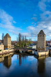 Ponts couverts in the city center of Strasbourg, France Stock Images
