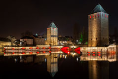 Ponts couverts in Petite France - Strasbourg Stock Image
