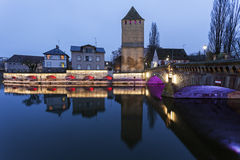 Ponts Couverts in Petite-France. Strasbourg, Alsace, France Royalty Free Stock Images