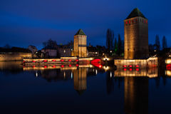 Ponts Couverts, Straßburg, Frankreich Stockbild