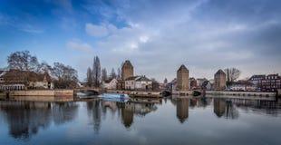 Ponts couverts - Strasbourg Arkivfoto