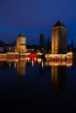 Ponts Couverts, Strasbourg, France imagem de stock