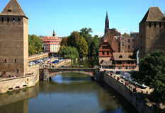 Ponts Couverts in Strasbourg, France Royalty Free Stock Photos