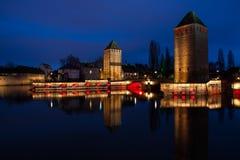Ponts Couverts, Strasbourg, Frankrike Fotografering för Bildbyråer