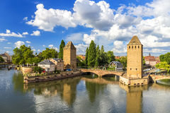 Ponts Couverts in Strasbourg Stock Photos