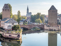 Ponts Couverts in Strasbourg Royalty Free Stock Images