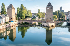 Ponts Couverts in Strasbourg Royalty Free Stock Photography