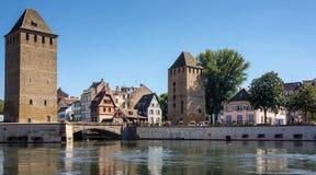 Ponts Couverts torn i Strasbourg Royaltyfria Bilder